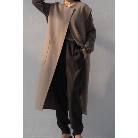 Jogger Wool Slacks_brown