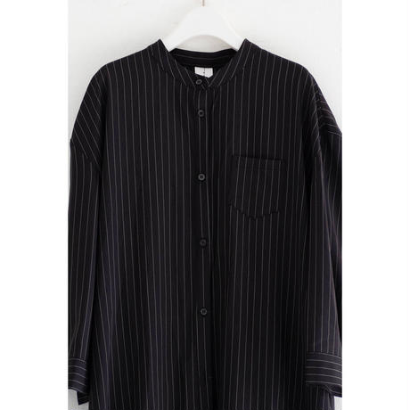 Back tack  dress_Stripe