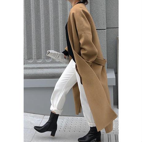 No-Collar Gown Coat