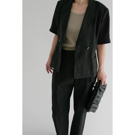 Linen HandStitch Jacket_black