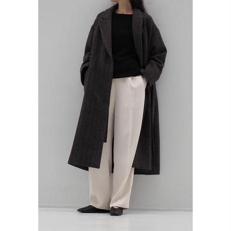 Belted Straight Coat_Herringbone