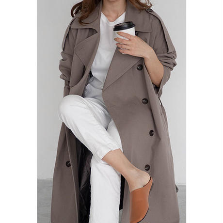 Oversize Trench coat_Khaki Gray