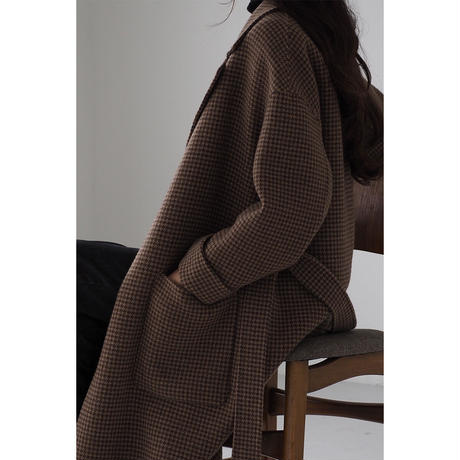 London Check Coat_brown