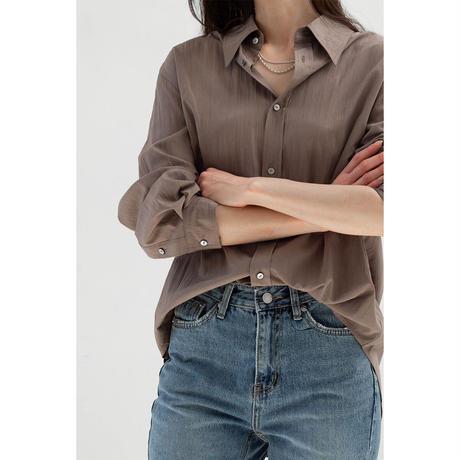 Wrinkle Shirt_mochabrown