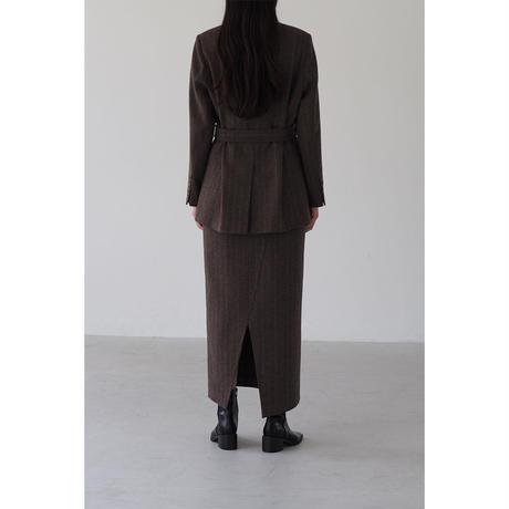 Wool Stripe Skirt