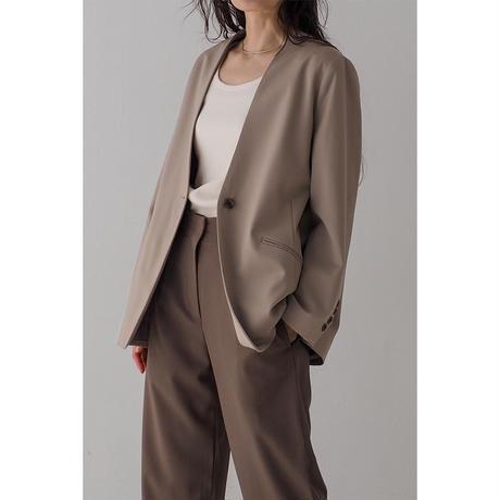Carrie's No-collar Jacket_Beige