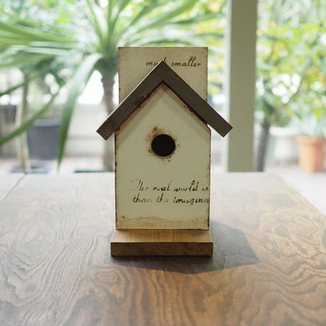 【DIY完成品】鳥の巣箱型小物入れ 屋根Gray TSK-G01