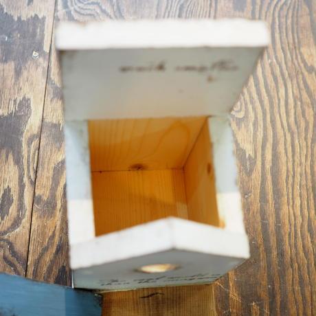 【DIY完成品】鳥の巣箱型小物入れ 屋根Gray TSK-B01