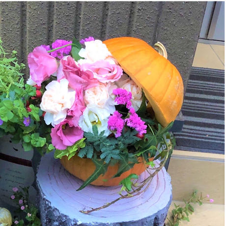 tukuribaワークショップチケット★オータムかぼちゃの アレンジメント