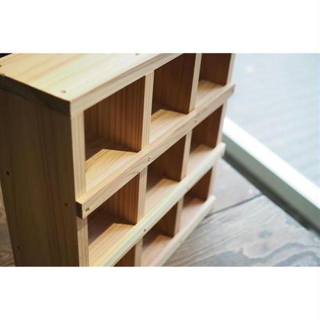 【DIY完成品・未塗装】コレクション飾り棚