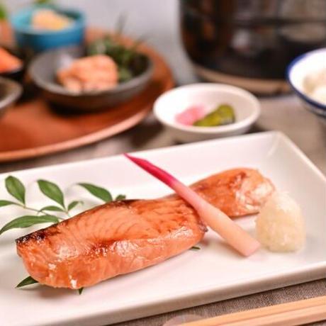 まごころ味噌漬(生サーモン味噌漬5切、塩たらこ2腹、鮭の昆布巻2本)【MM-5】