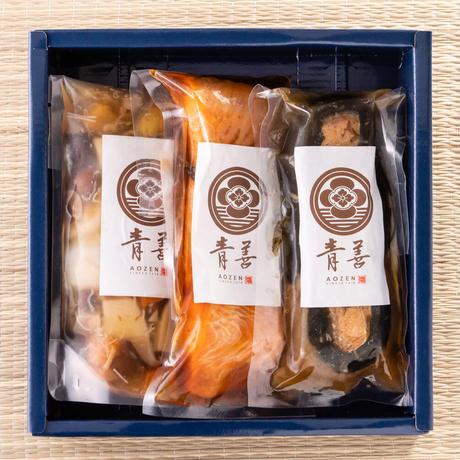 ふるさとセット① 【3001】(のっぺ汁 鮭の焼漬(小) 鮭の昆布巻(小))