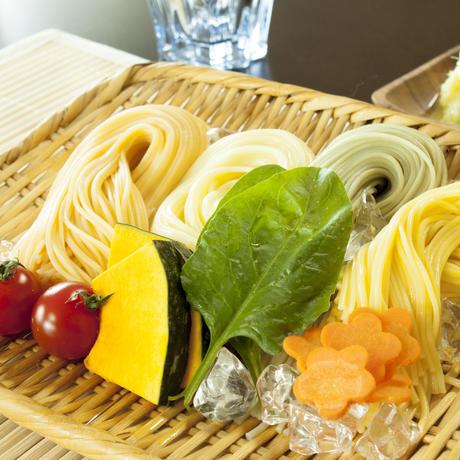 野菜素麺 4パック(トマト、人参、かぼちゃ、ほうれん草)[800g、16束]
