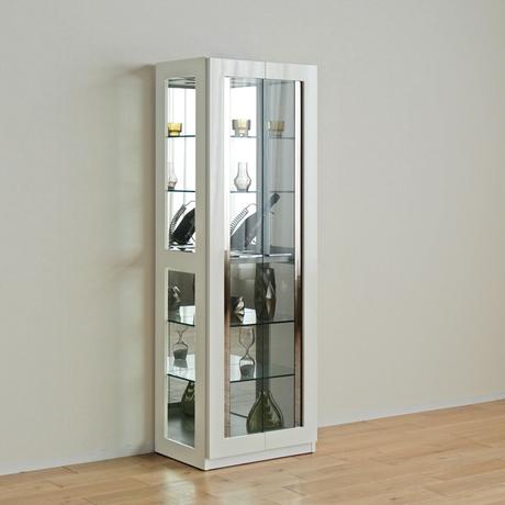 モリタインテリア デコレート 3120キュリオ コレクションケース ホワイト