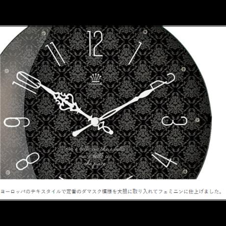 インターフォルム ブルーメ ウォールクロック ホワイト/ブラック