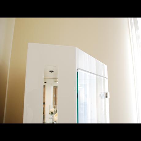 モリタインテリア アリオス コーナーキュリオ コレクションケース ホワイト/ブラウン