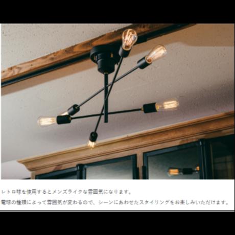インターフォルム アストル シーリングライト(レトロ電球付属)