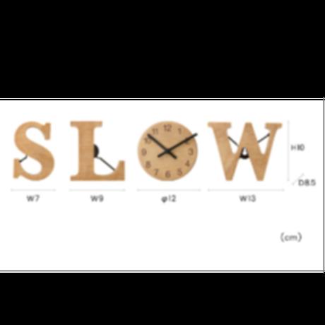 インターフォルム アルファベットクロック SLOW