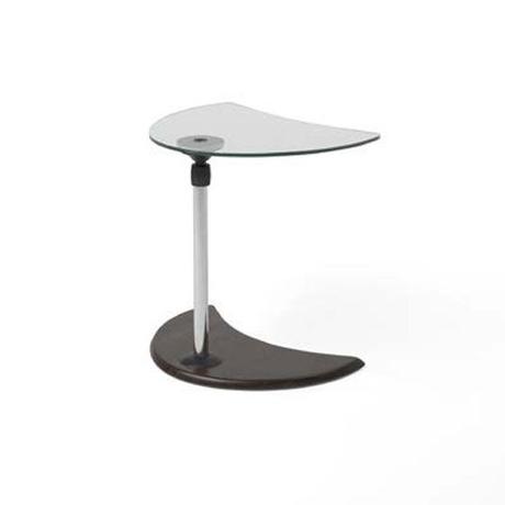 エコーネス ストレスレス USBテーブル A ガラス天板× ウッド(ウェンゲ)