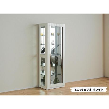 モリタインテリア デコレート 3127キュリオ コレクションケース ホワイト
