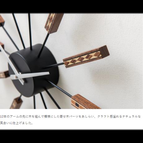 インターフォルム ニドルム ウォールクロック ホワイト/ブラック
