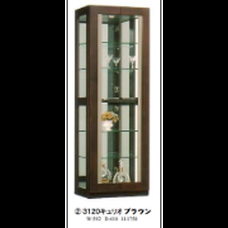 モリタインテリア デコレート 3120キュリオ コレクションケース ブラウン
