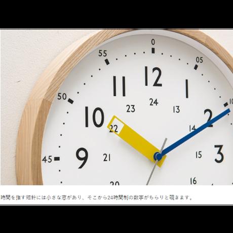 インターフォルム ストゥールマン ウォールクロック ブルー/イエロー/レッド