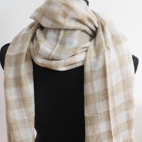 ストール Checks Design Pashmina Stole