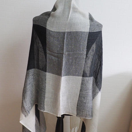 ストール Check Design Pashmina Stole