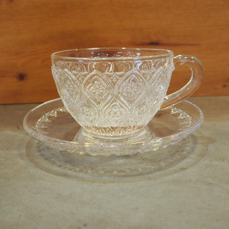 glass cup&saucer