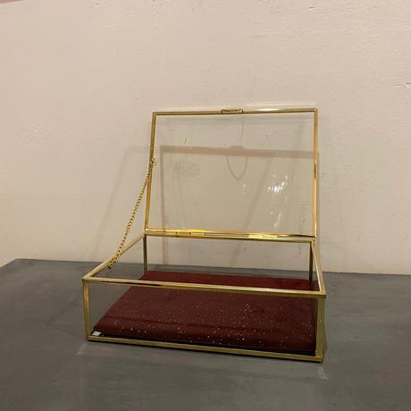 アンティークガラスボックスL
