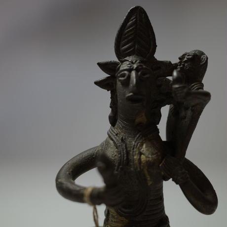民芸品 真鍮製 母子像