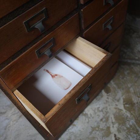 古家具 14杯木製抽斗収納箱(A4収納可)