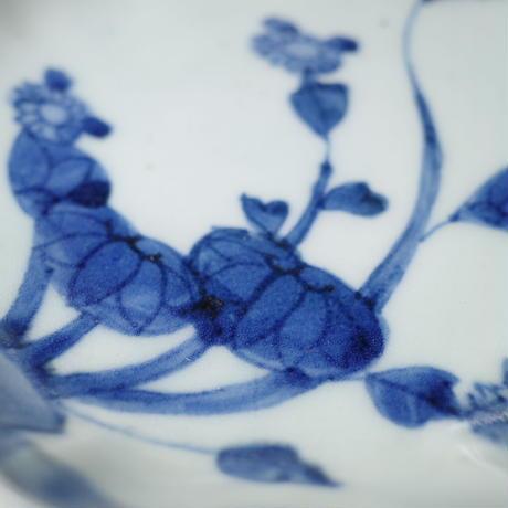染付 秋海棠図なます皿 ③