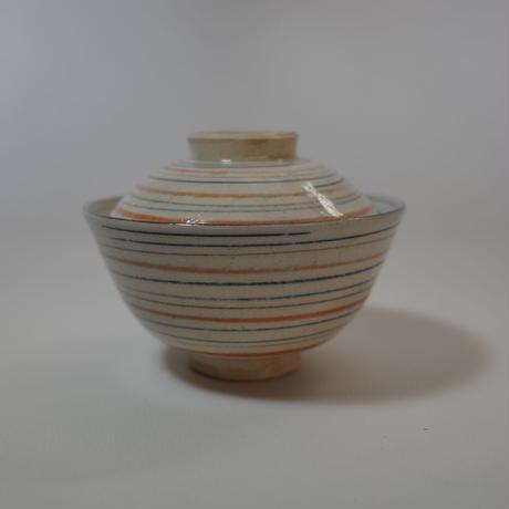 瀬戸 麦藁手輪線蓋茶碗 ①