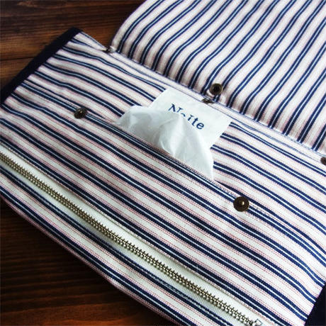 Hickory stripe tissue case / ティッシュケース Made in JAPAN 送料無料