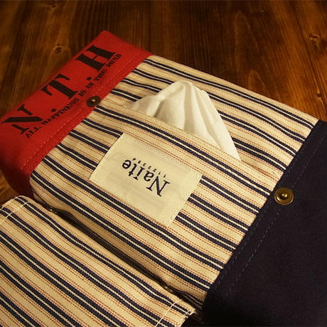 Tricolor tissue case / ティッシュカバー Made in JAPAN 送料無料