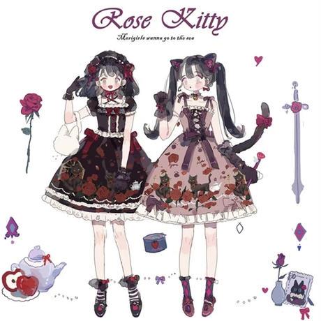 【お取り寄せ】薔薇と黒猫のワンピース/JSK