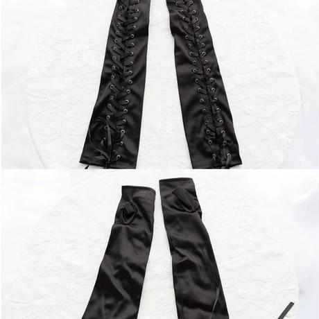 【2種類】編み上げロンググローブ&アームカバー
