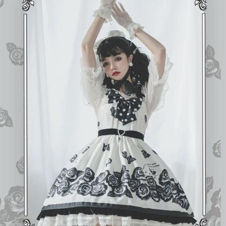 【お取り寄せ】サンリオ公認☆キティちゃんと黒薔薇JSK