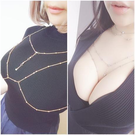 おっぱいチェーン+チョーカーセット【2色】