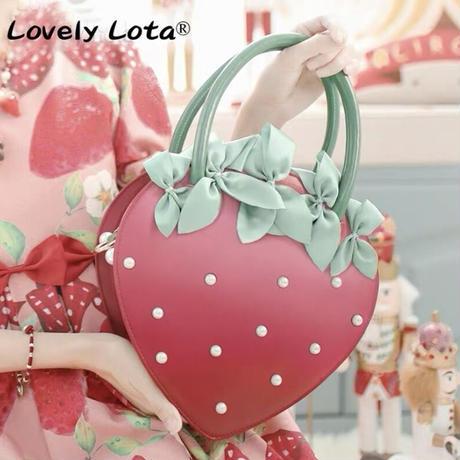 【お取り寄せ】【LovelyLota】宝石苺2wayバッグ(2色)