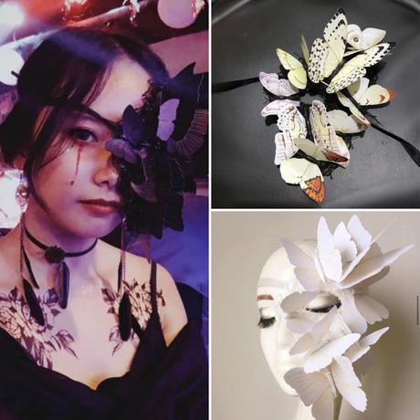 【カラーはお取り寄せ】蝶の仮面【3種類】