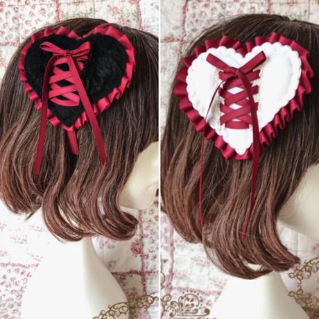 編み上げハートヘアピン