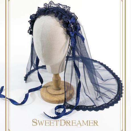 【SweetDreamer】十字架ベールヘッドドレス【3色】