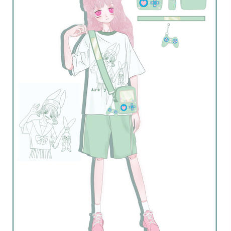 ミニゲームウォッチ痛ポシェット【3色】(グリーンはお取り寄せ)