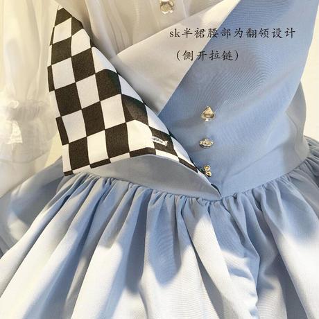 【ご予約】【Nobeing Fashion】不思議の国のスカート➕小物セット【2色】