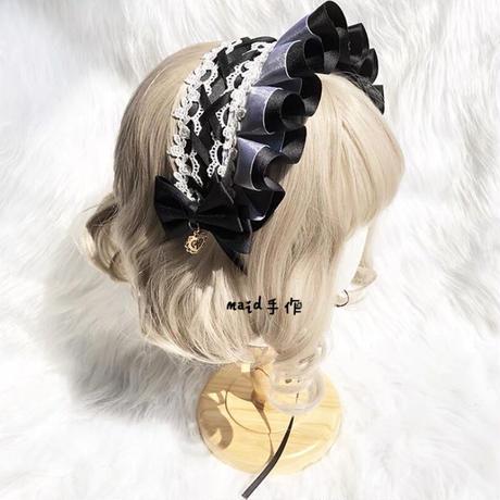 【お取り寄せ】ボンネット風ヘッドドレス【4色】