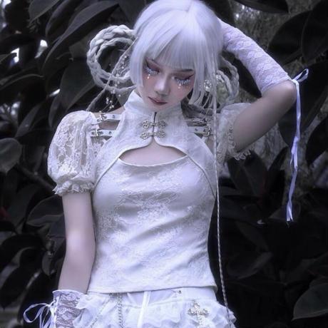 【お取り寄せ】【血液供給】ホワイトベルトチャイナトップス