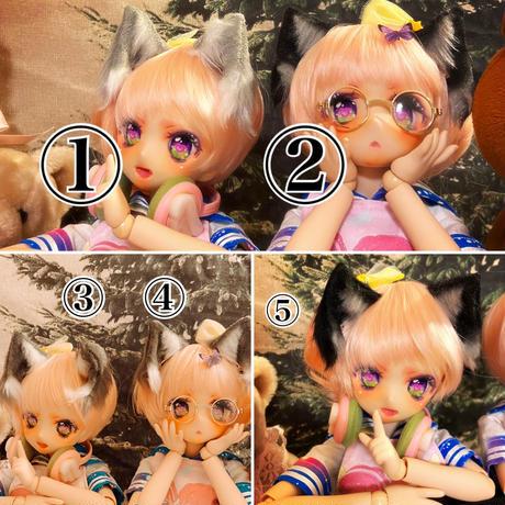 ドール用ミニチュア猫耳【5種類】
